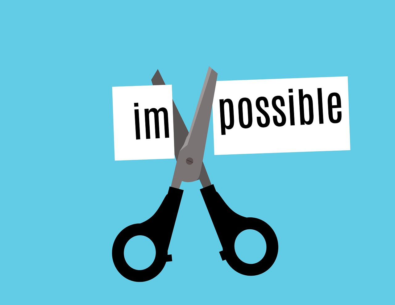 scissors cutting impossible to possible